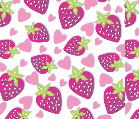 0006_Fresas_Bye_110312 fabric by sandramunoz1 on Spoonflower - custom fabric