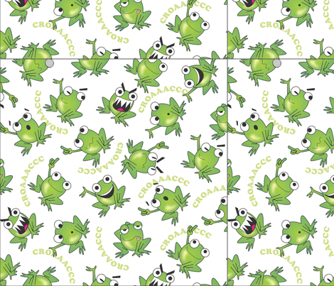 0007_RANAS_LOCAS_120312 fabric by sandramunoz1 on Spoonflower - custom fabric