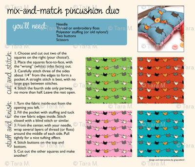 Mix-and-Match Pincushion Duo