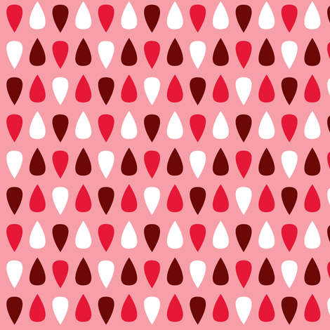 Tiny gouttes rouges fabric by petitspixels on Spoonflower - custom fabric