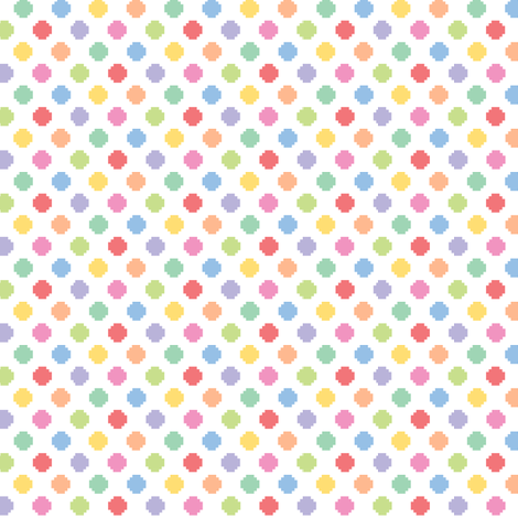 Tiny pixelated multicolored dots