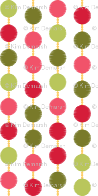 Mad Men Inspired-Pink & Green Mad Dots