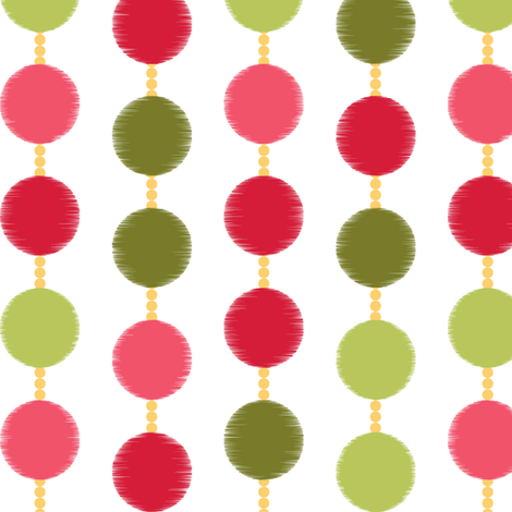 Mad Men Inspired-Pink & Green Mad Dots fabric by stitchwerxdesigns on Spoonflower - custom fabric