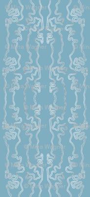 wavy lines vertical - R21 blue-grey