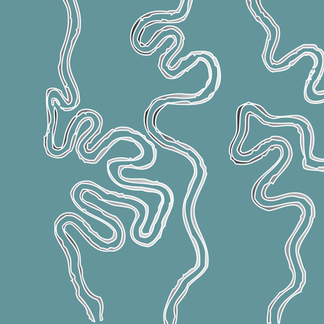 Wavy lines vertical - colormap Z17 grey-bluegreen
