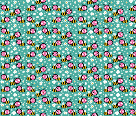 The Honey Bees fabric by heidikenney on Spoonflower - custom fabric