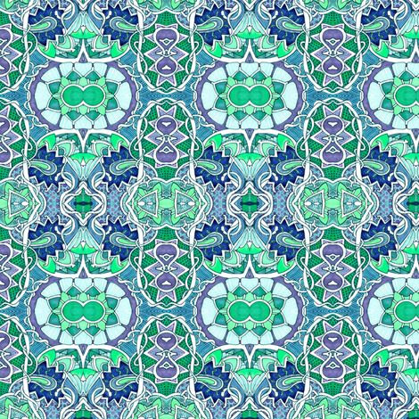 Twins in the Neighborhood fabric by edsel2084 on Spoonflower - custom fabric