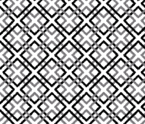 Weave Ikat _ Black and Gray fabric by fridabarlow on Spoonflower - custom fabric