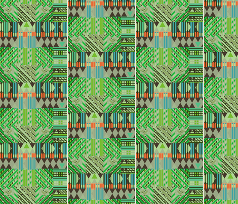 Bus Stop #12 (Greens) fabric by david_kent_collections on Spoonflower - custom fabric