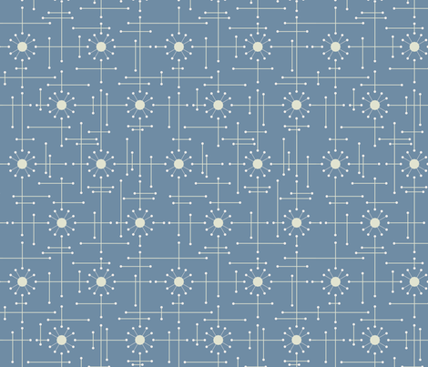 Mod-French-Blue fabric by bad_wolf_clothier on Spoonflower - custom fabric