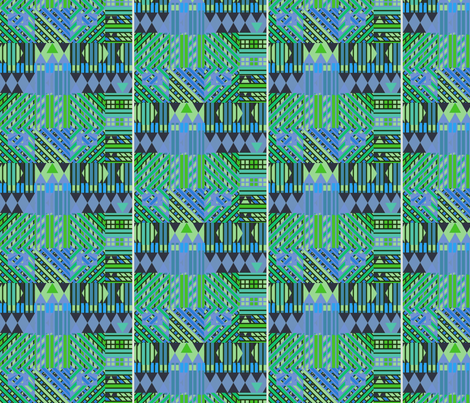 Bus Stop #12 (Blues) fabric by david_kent_collections on Spoonflower - custom fabric