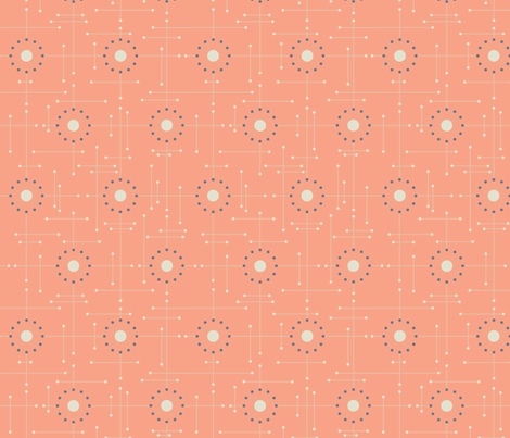 Mod-Coral fabric by bad_wolf_clothier on Spoonflower - custom fabric