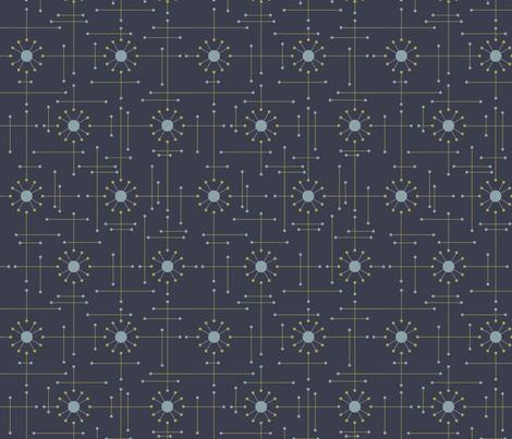 Mod-Navy fabric by bad_wolf_clothier on Spoonflower - custom fabric