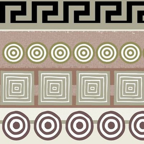Ancient Greeks, striped - horizontal