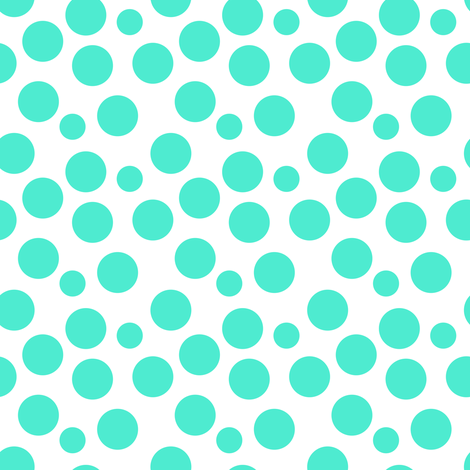 Teal dots fabric by ravynka on Spoonflower - custom fabric