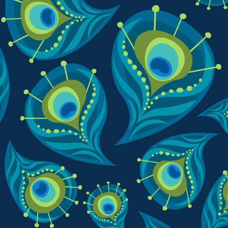 the Paisley Peacock  fabric by bzbdesigner on Spoonflower - custom fabric