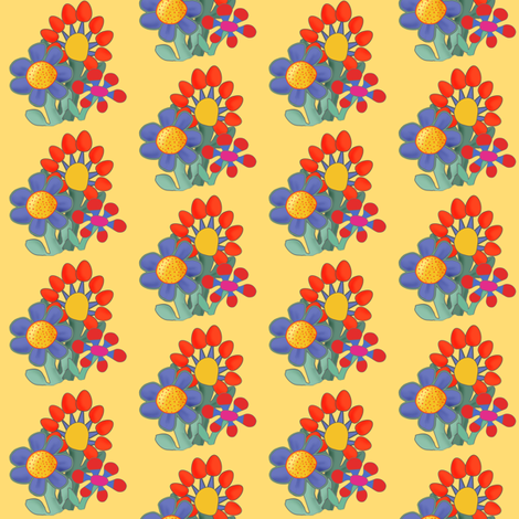 naive_bouquet-1 fabric by daisydawn on Spoonflower - custom fabric