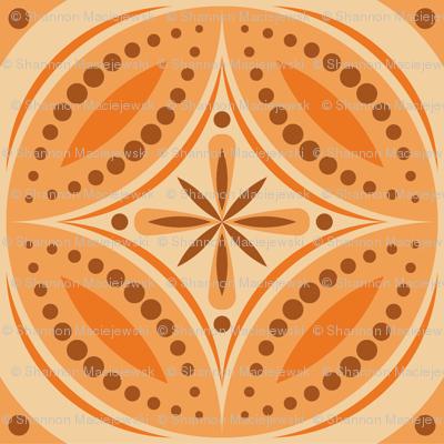 Moroccan Tiles (Orange)
