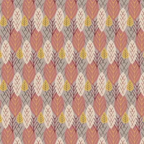 Lucienne Leaf fabric by alisontauber on Spoonflower - custom fabric