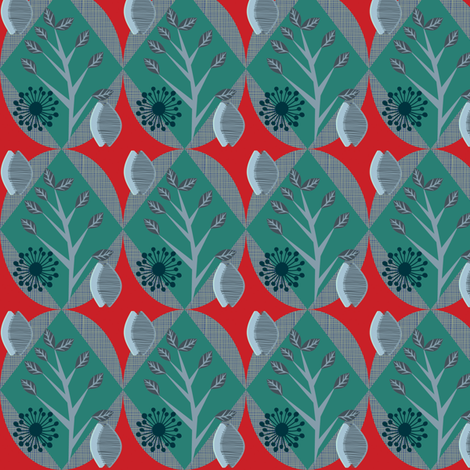 seedpods in leafland fabric by bippidiiboppidii on Spoonflower - custom fabric