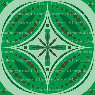 Moroccan Tiles (Green)
