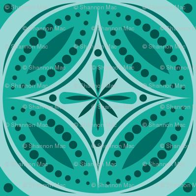 Moroccan Tiles (Blue Green)