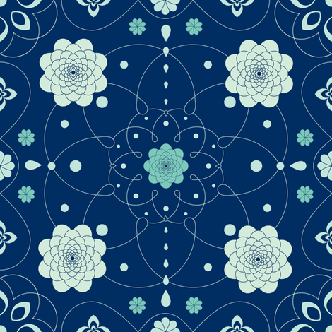 flowerdy fabric by aoifef on Spoonflower - custom fabric