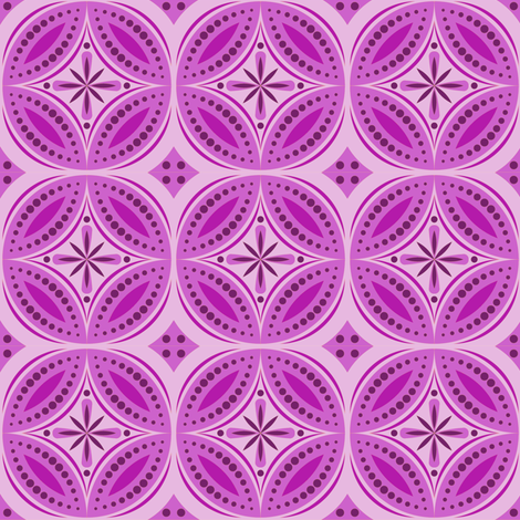 Moroccan Tiles (Red/Violet) fabric by shannonmac on Spoonflower - custom fabric