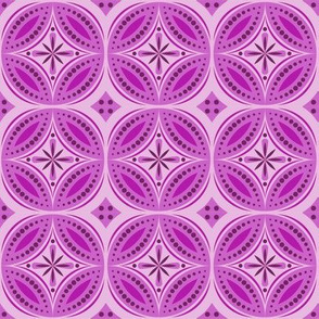 Moroccan Tiles (Red/Violet)