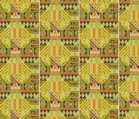 Bus Stop #12 (Yellows) fabric by david_kent_collections on Spoonflower - custom fabric