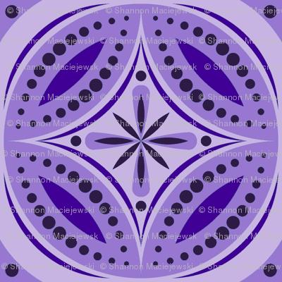 Moroccan Tiles (Violet)