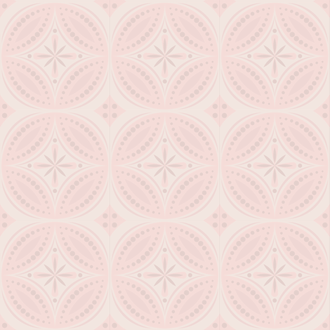 Moroccan Tiles (pale pink) fabric by shannonmac on Spoonflower - custom fabric