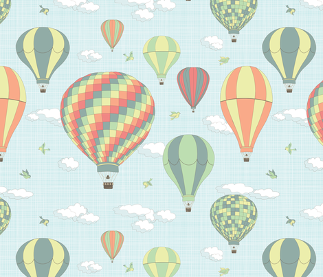 friendly skies fabric by einekleinedesignstudio on Spoonflower - custom fabric