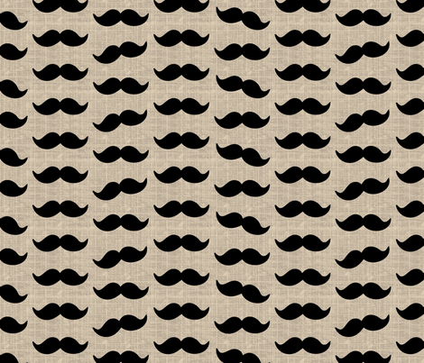 Mustache fabric by littlerhodydesign on Spoonflower - custom fabric