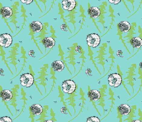 dandelion fabric by renelope on Spoonflower - custom fabric