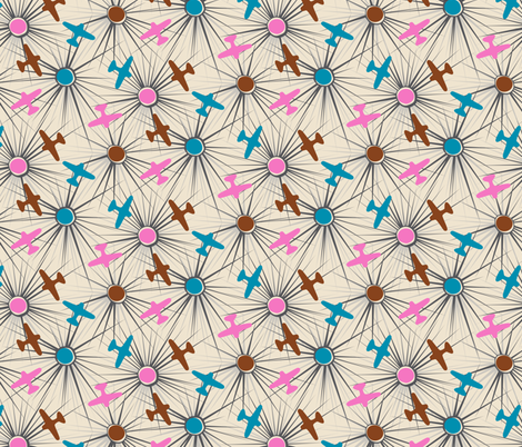 Flightpath - Bright fabric by tuppencehapenny on Spoonflower - custom fabric