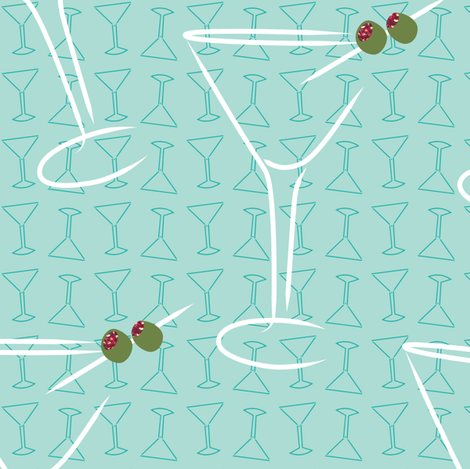 cocktail fabric by renelope on Spoonflower - custom fabric