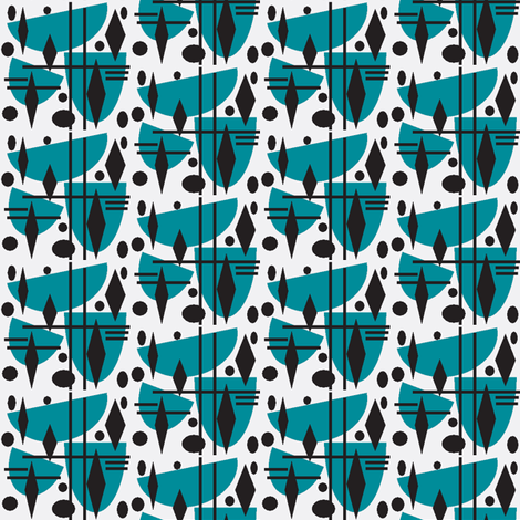 Late at the office fabric by abstracthands on Spoonflower - custom fabric