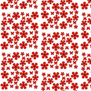 polka swiss_dots_floral-butterfly- red, black, white