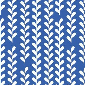 Climbing Vines in Royal Blue and White