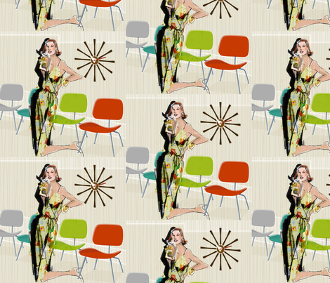 COCKTAIL DRESS FABRIC SAMPLE fabric by deeniespoonflower on Spoonflower - custom fabric