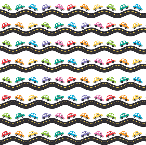 Tiny cars fabric by petitspixels on Spoonflower - custom fabric