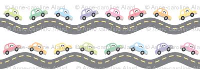 Tiny pastel cars