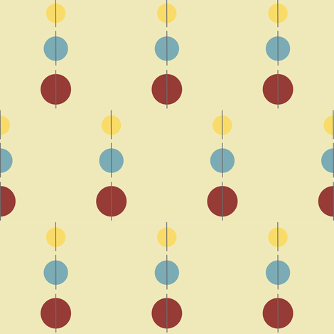 Mod Dots fabric by krihem on Spoonflower - custom fabric