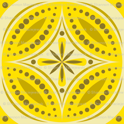 Moroccan Tiles (Yellow)