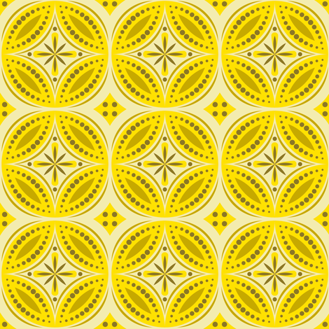 Moroccan Tiles (Yellow) fabric by shannonmac on Spoonflower - custom fabric