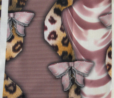 Leopards'n'Lace - Bows - Pink