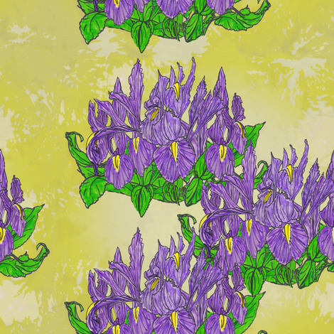 Irises fabric by katybee on Spoonflower - custom fabric