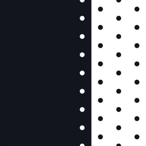 Black_Vintage_Dots_With_Border fabric by ineedewe on Spoonflower - custom fabric