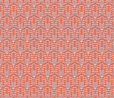 FOREST_WINDOW_CORAL-ed fabric by glimmericks on Spoonflower - custom fabric